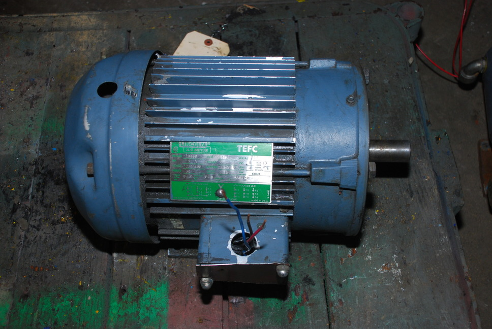 5hp tefc 1740 rpm 1 1 8 lincoln electric motor 184tc foot for 1 8 hp electric motor