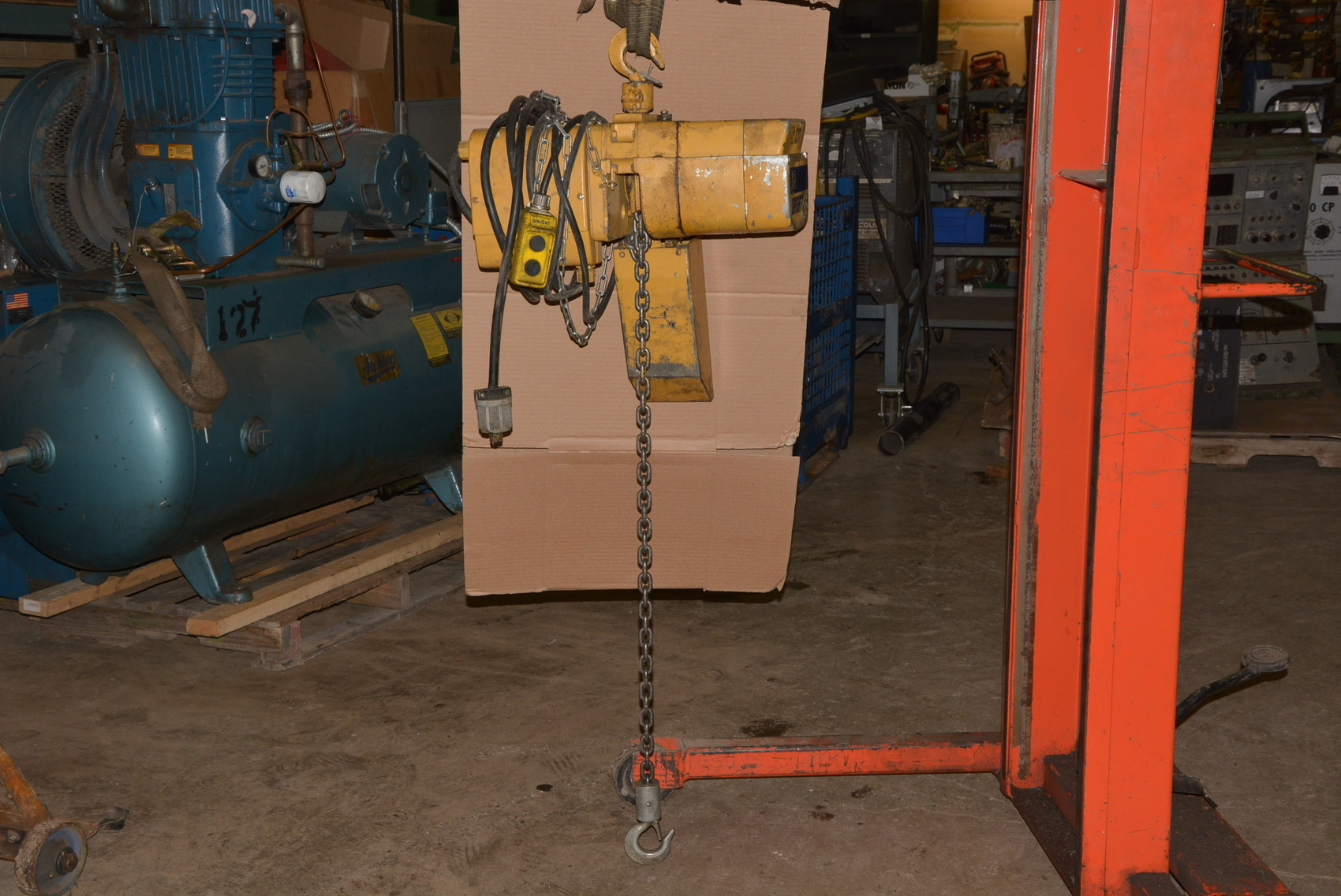 Acco wright way 1 2 ton electric chain hoist w trolley inv for 2 ton hoist with motorized trolley