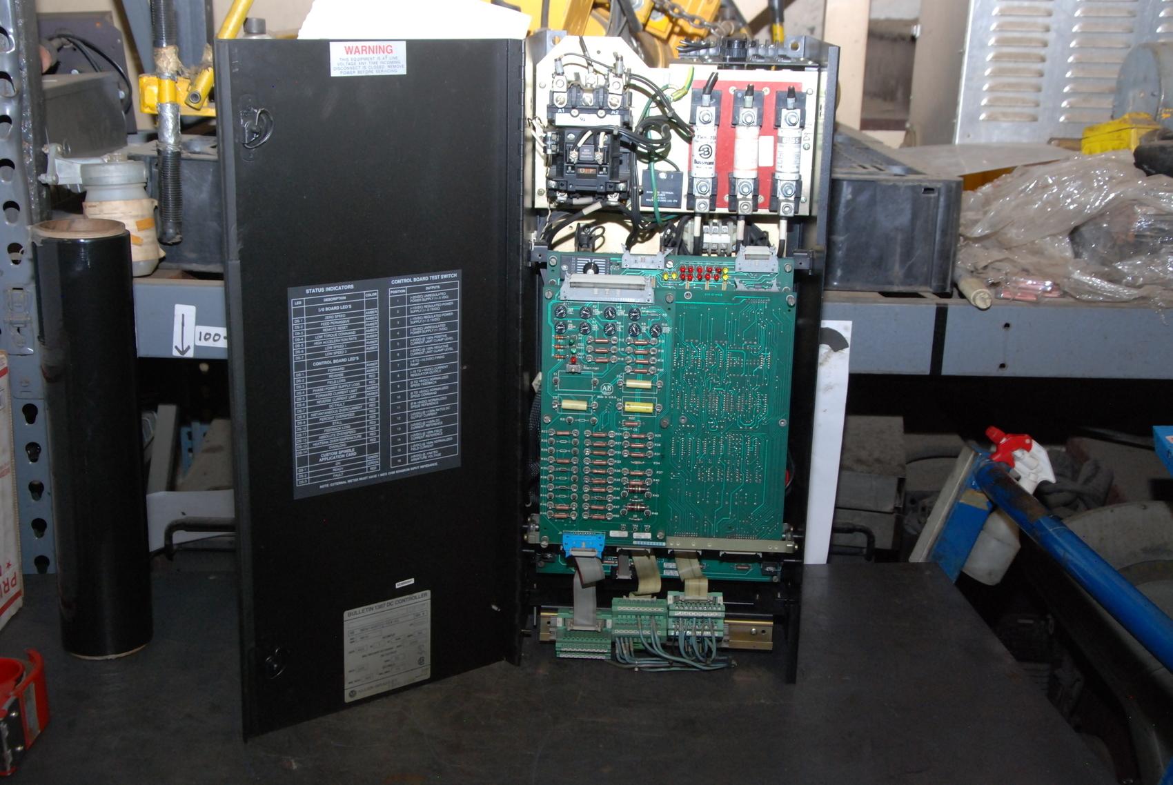 ... Allen Bradley 1387-B-DOB055-D14-A1 ser B DC Drive Controller