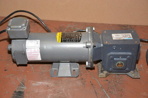 baldor 1 2 hp dc gear motor w speed control single phase