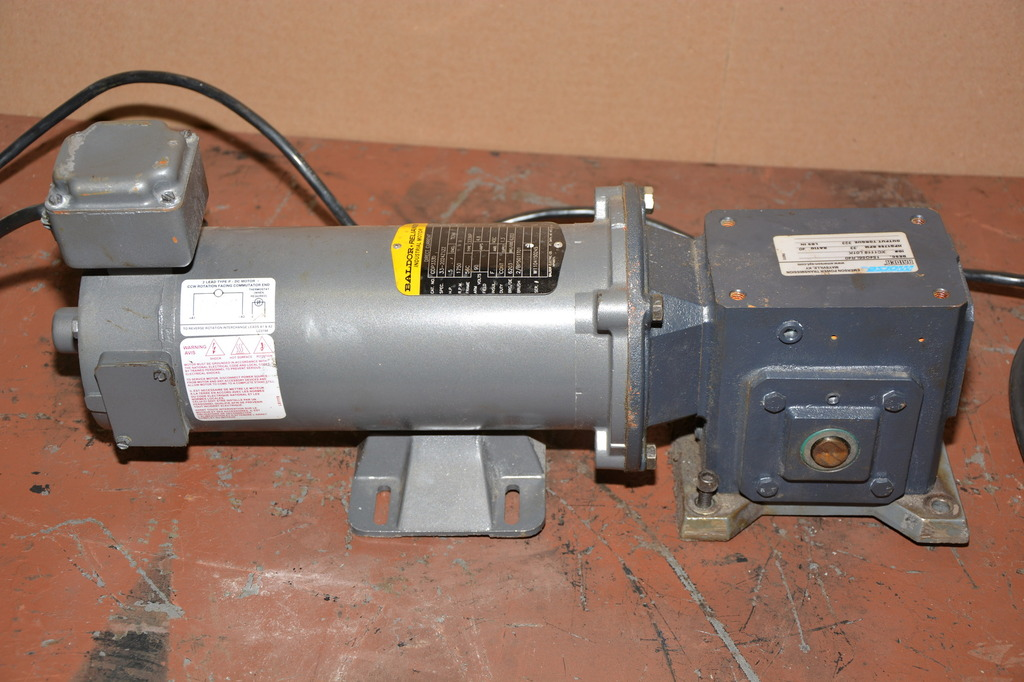 Baldor 1 2 Hp Dc 1 40 Gear Motor 115v Speed Control Pig