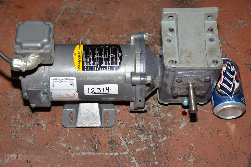 Baldor 1 4 Hp Dc Gear Motor With Dayton 5 1 Ratio Speed Reducer Inv 12314 Ebay
