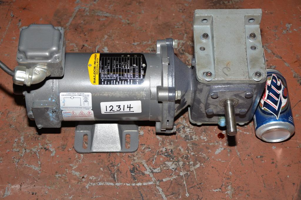 Baldor 1 4 Hp Dc Gear Motor With Dayton 5 1 Ratio Speed