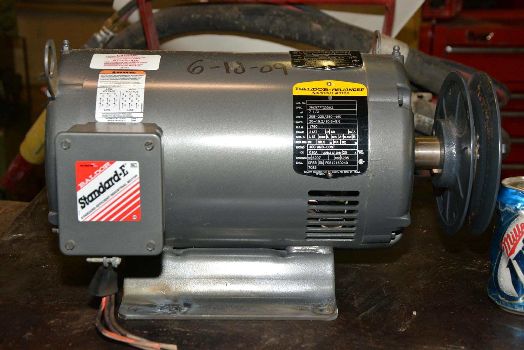 Baldor 36k977t255h2 Electric Motor 7 5 Hp 3ph 1760 Rpm 208