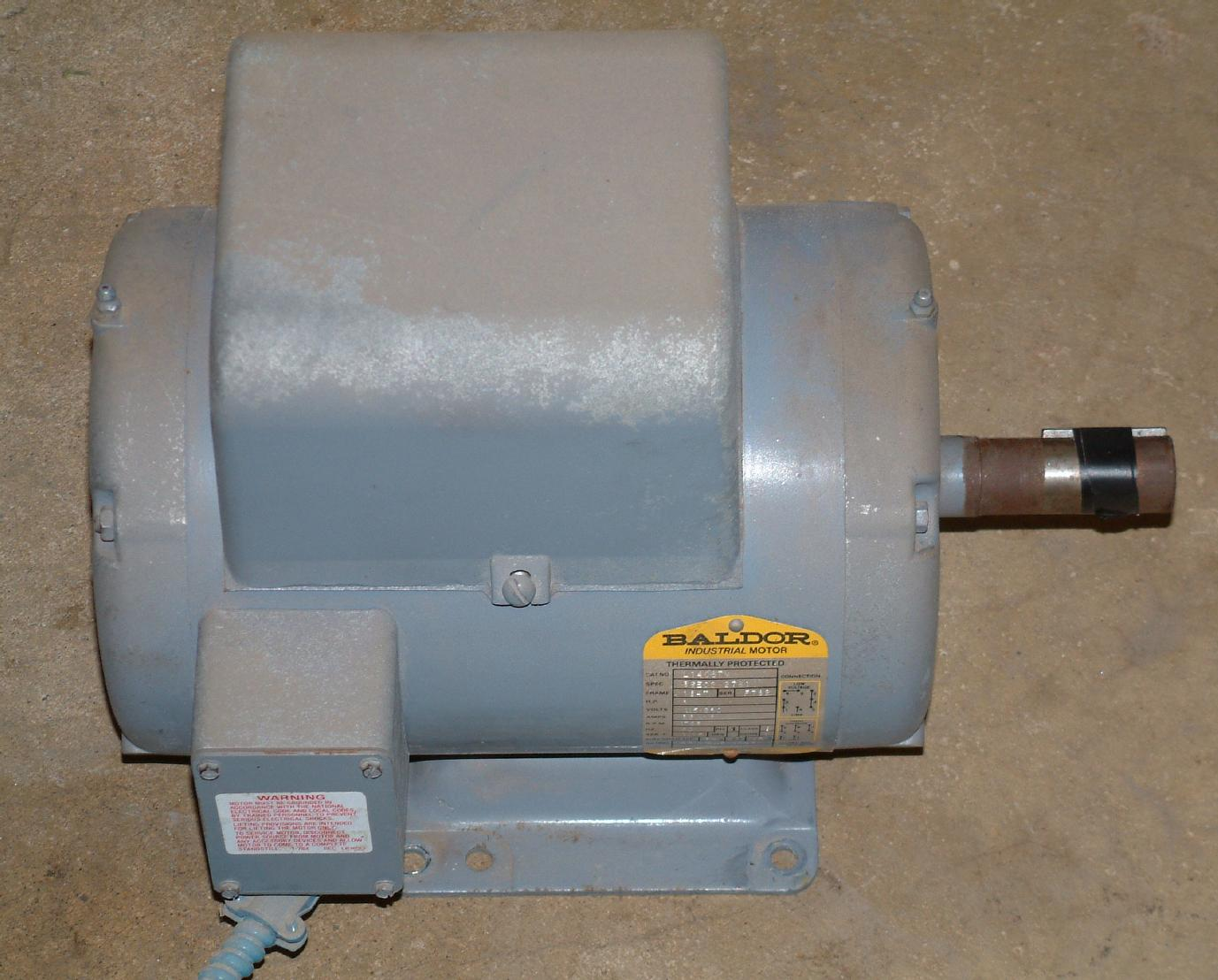 Baldor 3hp Single Phase Motor Of Baldor 3 Hp