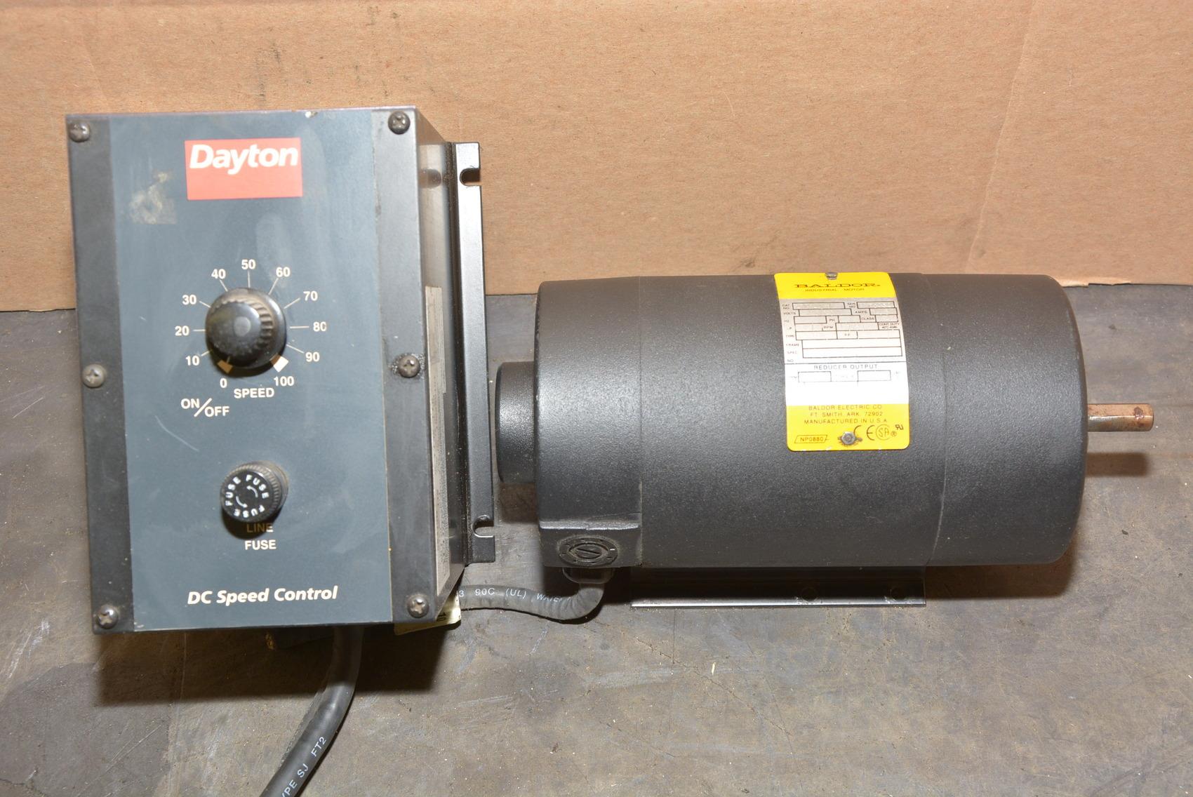 Baldor Ap7401 Dc Motor 1 8 Hp Dayton Single Phase V S