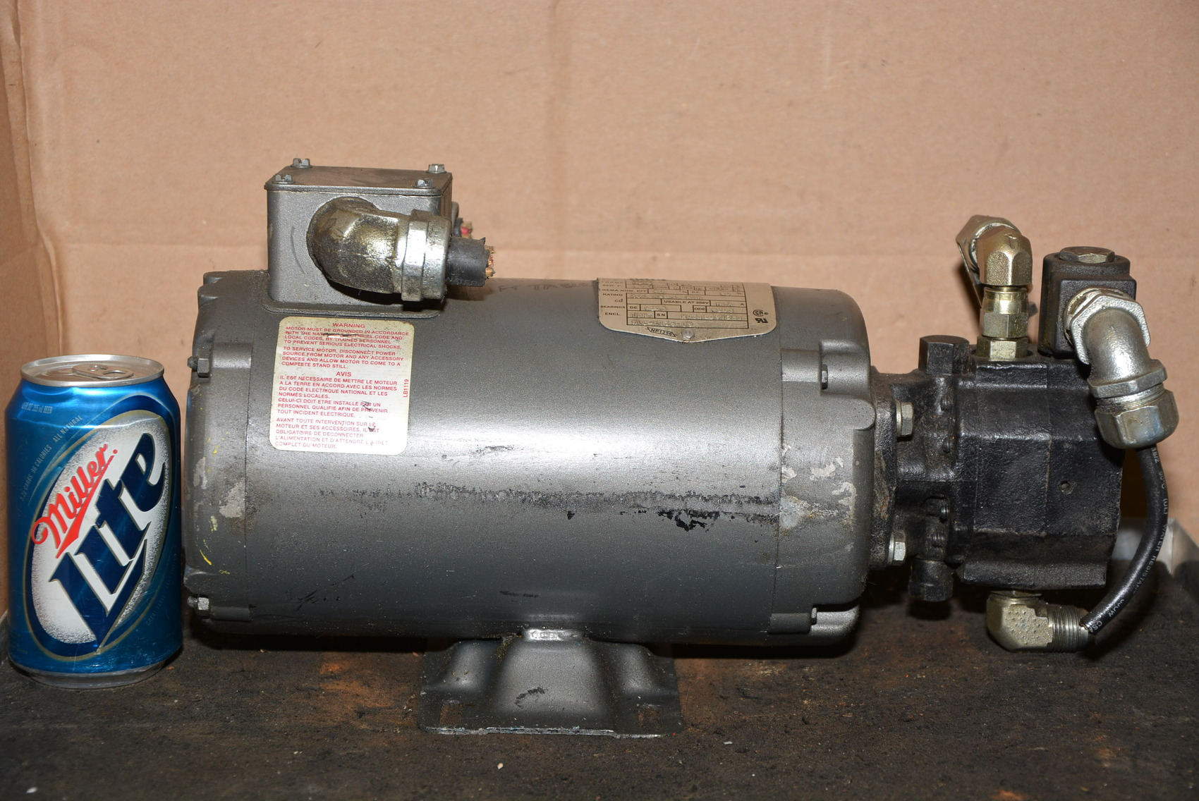 Baldor Barnes 1 1 2 Hp Single Phase 115v Hydraulic Pump Motor Inv 12778