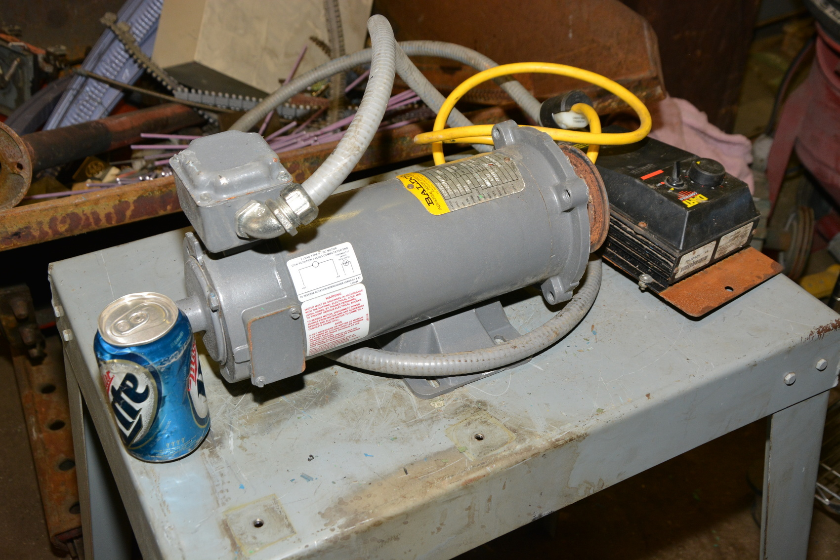 Baldor cdp3330 180v dc 1 2 hp motor dart 253g 200e speed for 2 hp dc electric motor