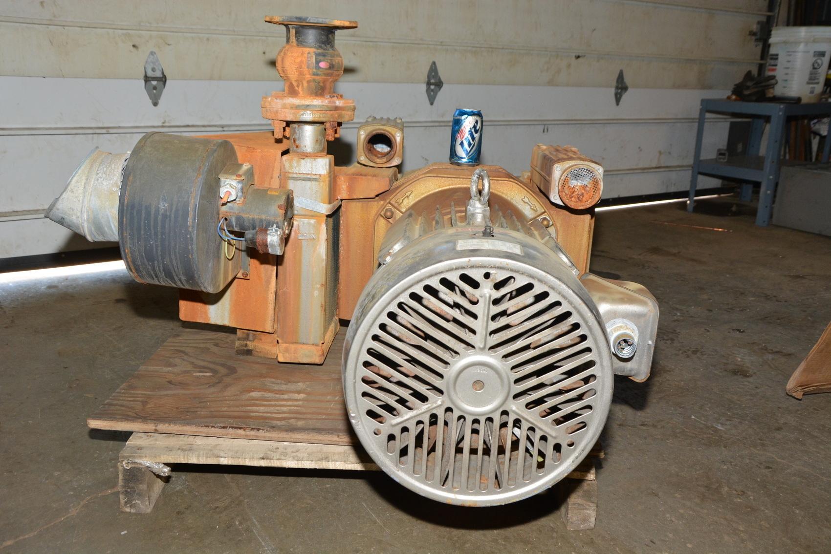 Becker Dtlf 250 Oil Less Air Compressor W 20 Hp Electric