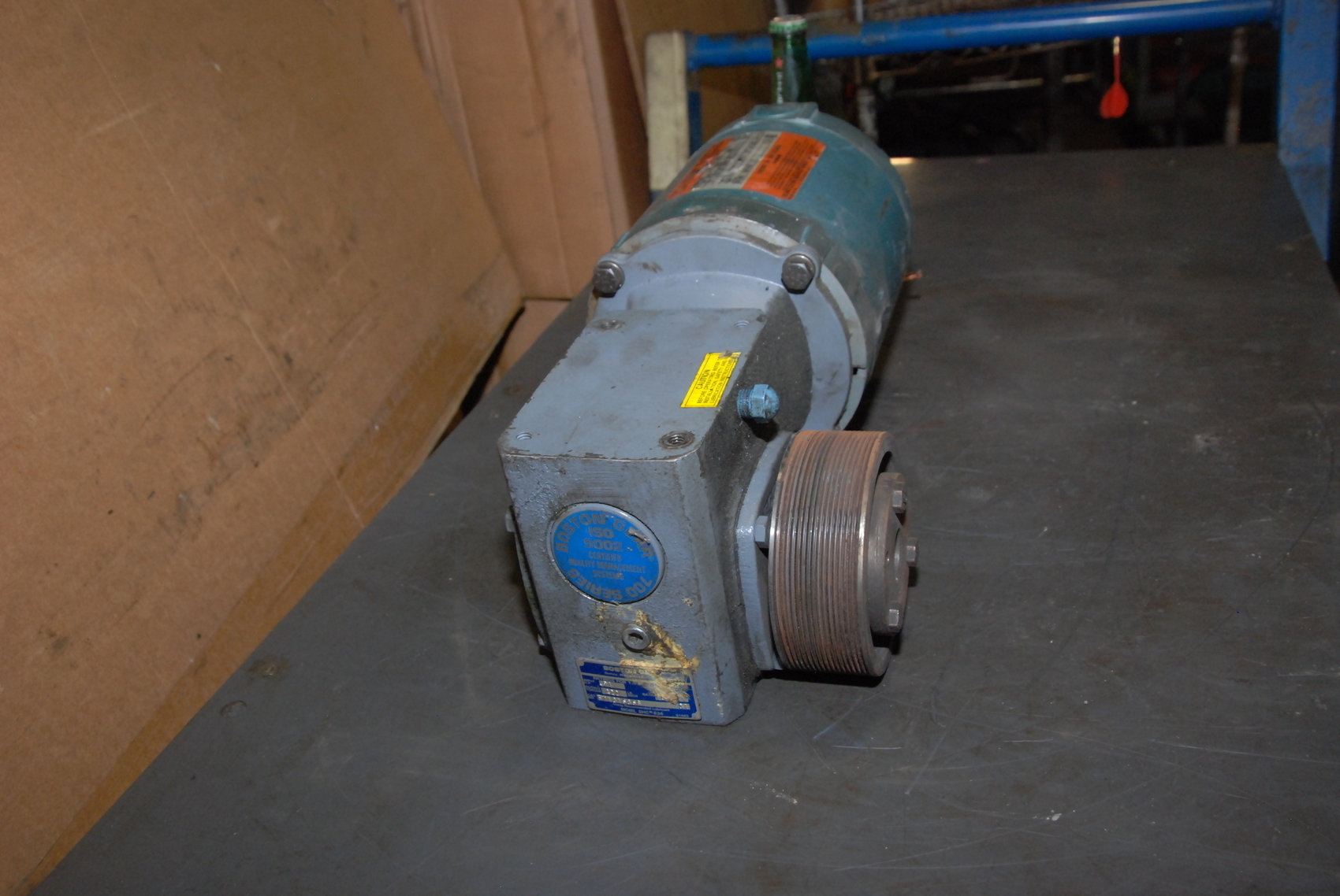 Boston Gear F71815b56 Gear Motor W Reliance 1 2hp Electric