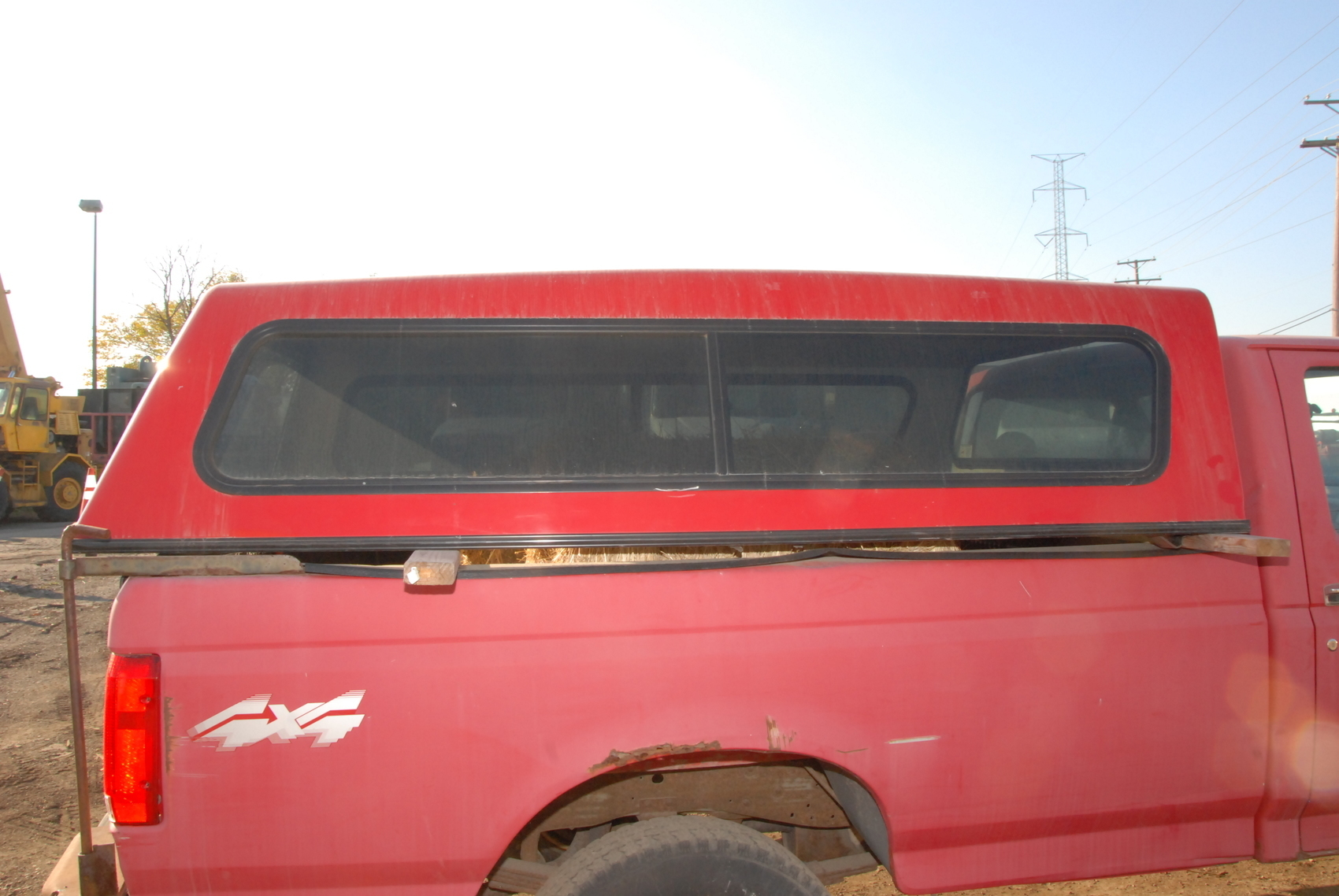 camper shell for ford f250 around year 1997 8 ft bed cap inv 24009 ebay. Black Bedroom Furniture Sets. Home Design Ideas