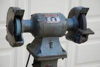 Huge Castiron Dayton Bench Grinder Pedestal 115v 3 4 Hp