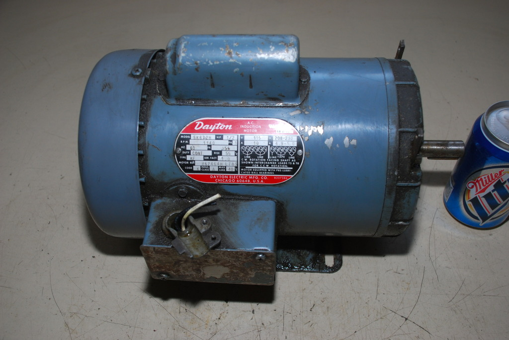 Dayton ac induction motor 5k672h 1140 rpm 1ph 1 2 hp inv for 1 2 hp ac motor