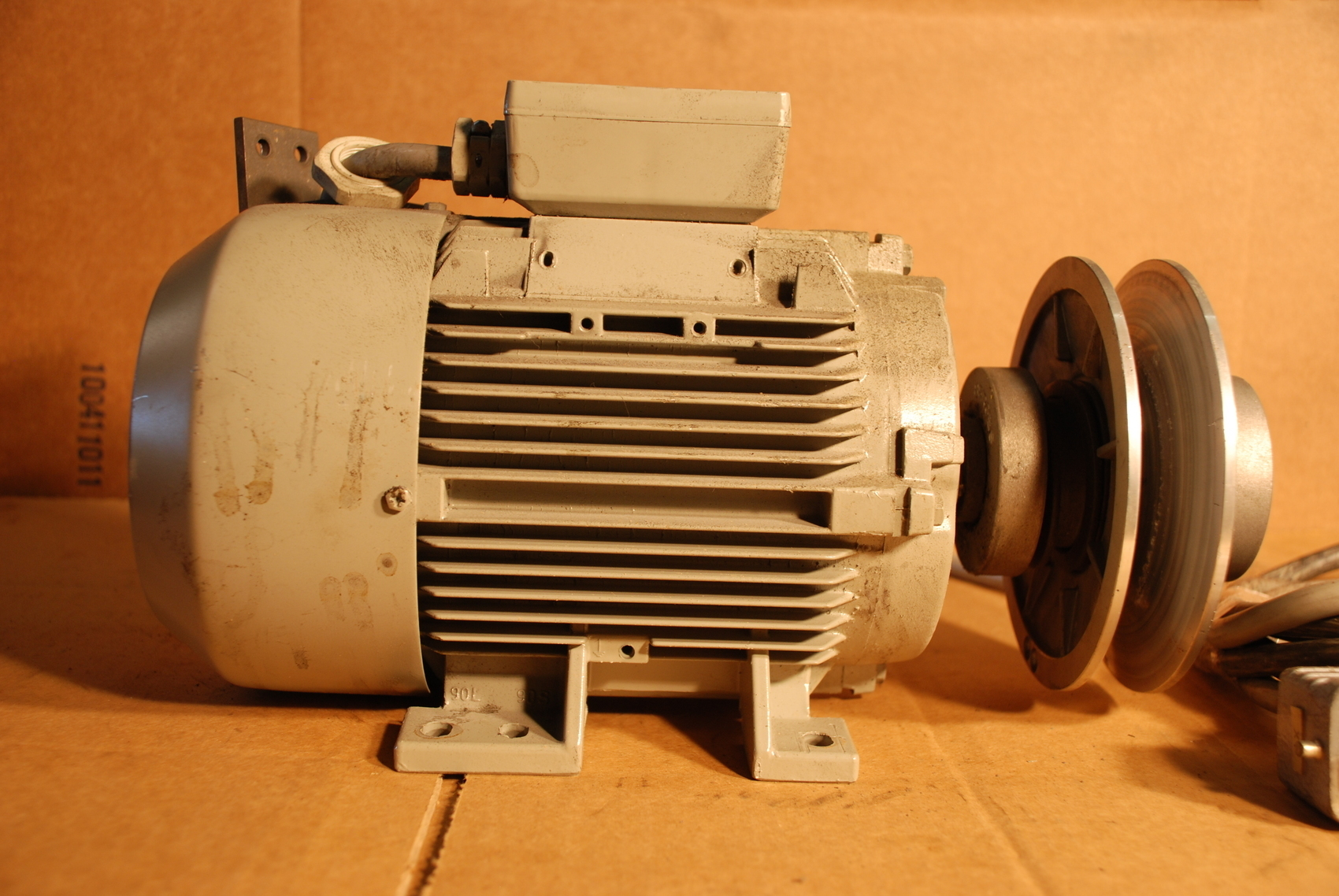 dietz 1 1 kw electric motor 3 ph 1665 1730 rpm inv 18248