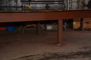 Enormous unused huge reinforced welding table 60x120 inch for Table 60x120