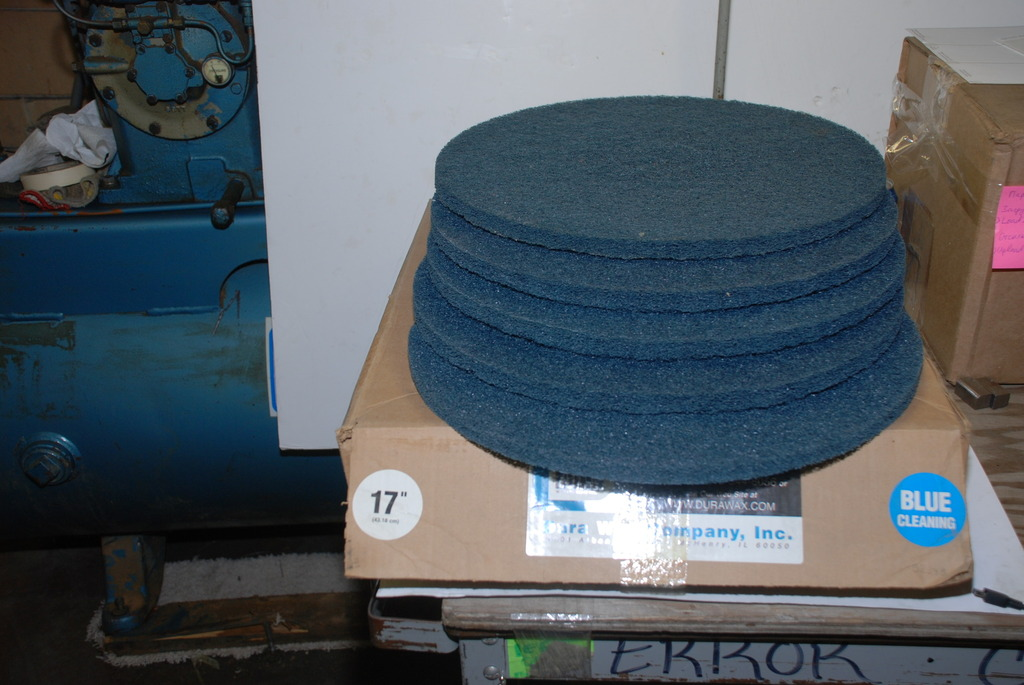 Five blue cleaning scrubbing abrasive floor buffer for 17 inch floor buffer