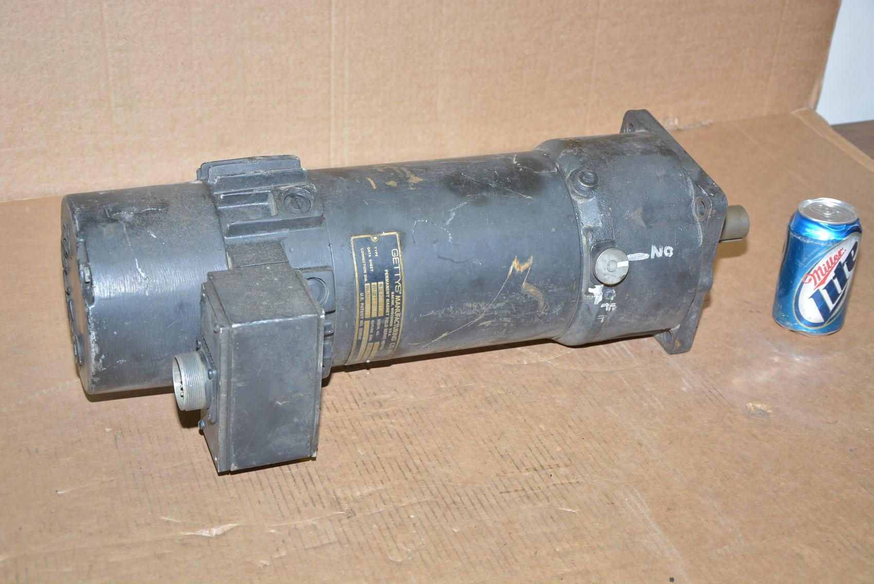 Fanuc Gettys Permanent Magnet Dc Servo Motor 16 0385 18