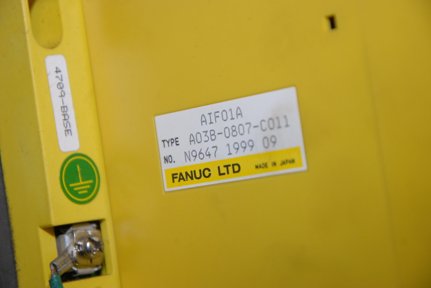 Fanuc PLC;A03B-0807-C011 I//O INTERFACE MODULE+10 I//O modules INV=22423