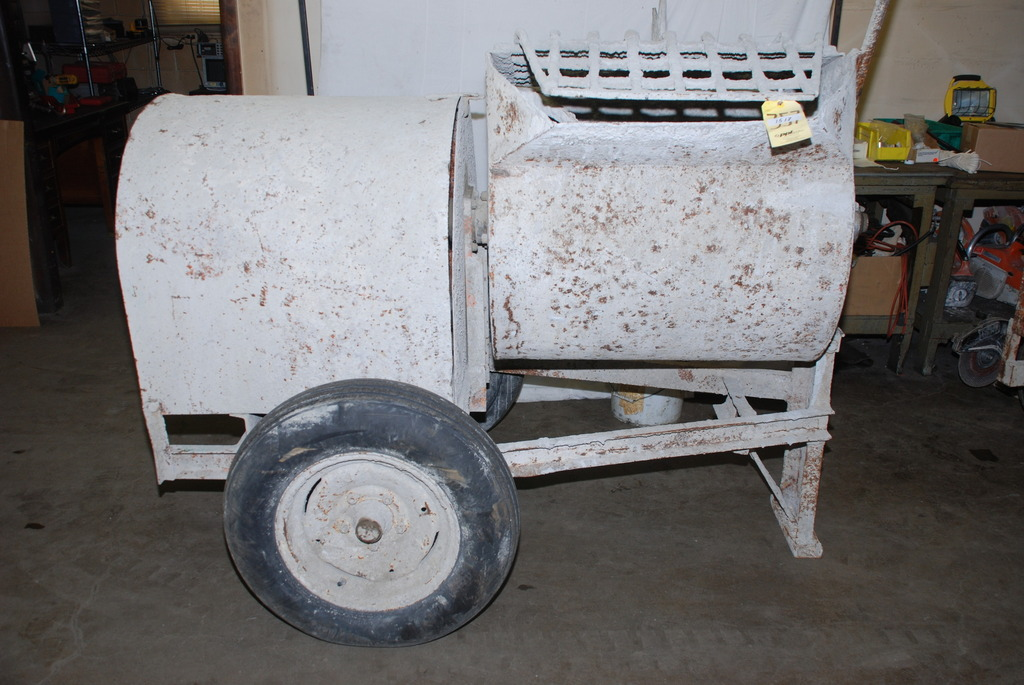 Great electric 3 hp concrete mortar mixer inv 1517 ebay for Used electric motor shop equipment for sale