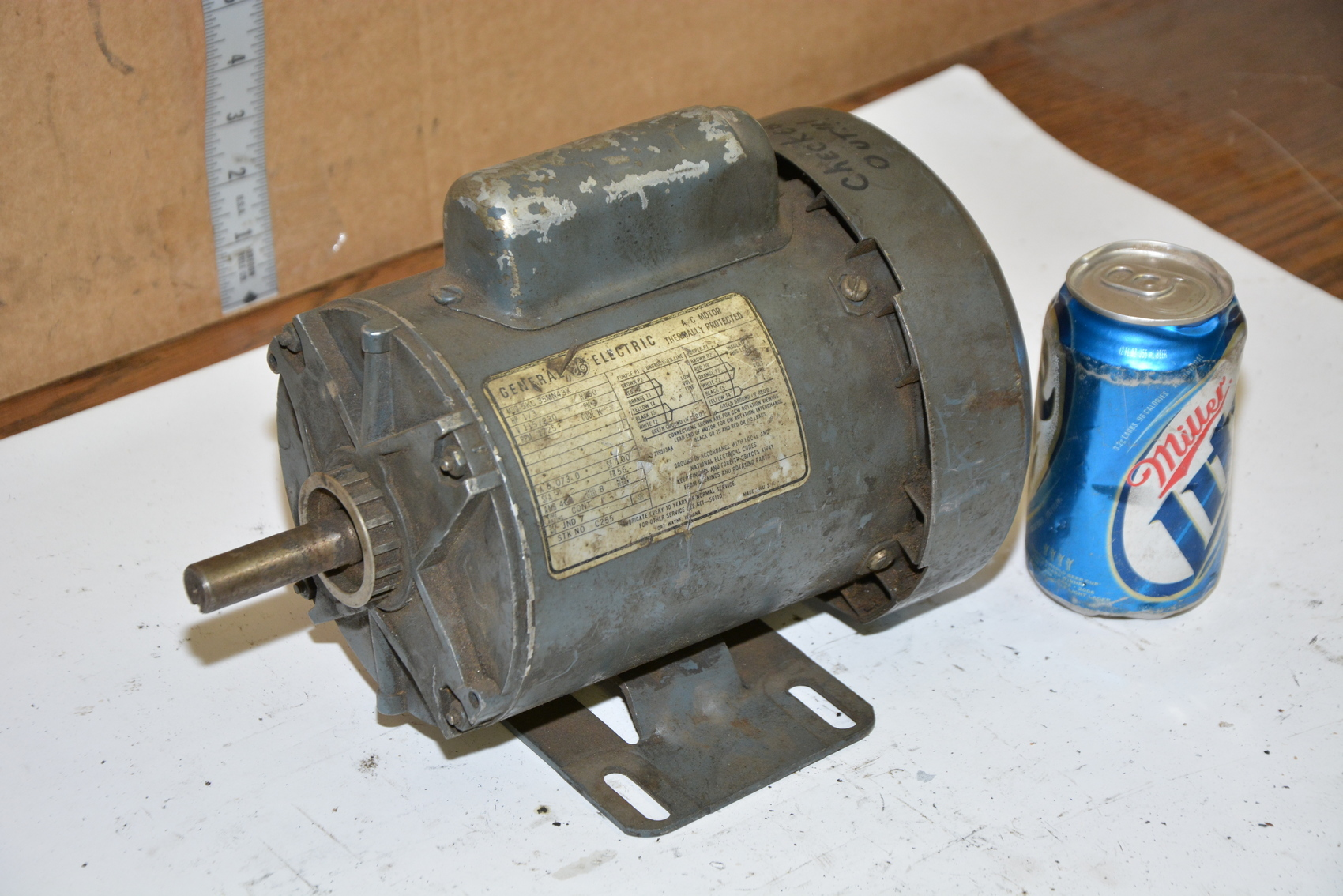 General Electric 5kc35mn43x Single Phase Electric Motor 1 3hp 1725 Rpm Inv 17230 Ebay