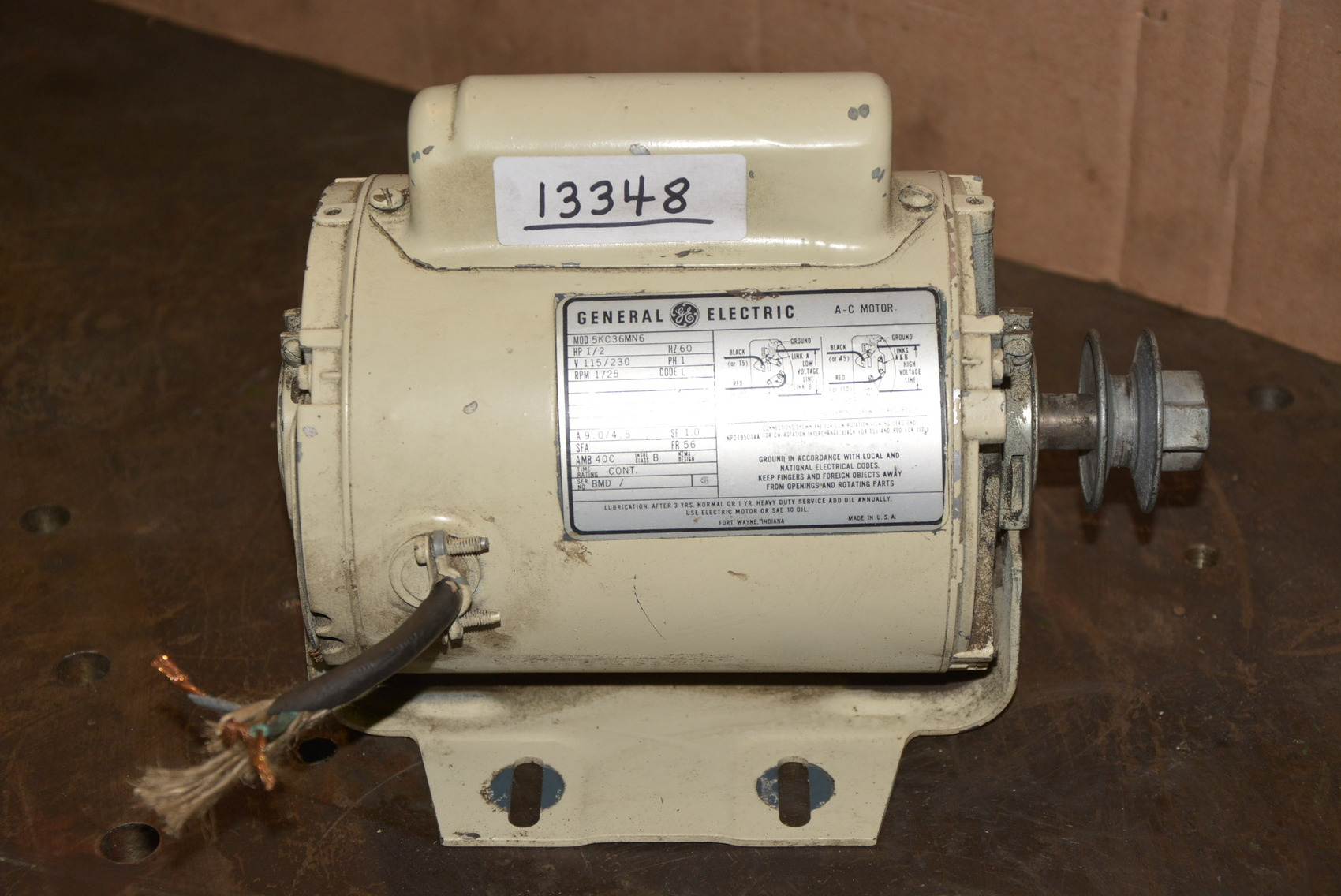 13348 of general electric 5kc36mn6 1 2 hp 115 for 1 2 hp ac motor