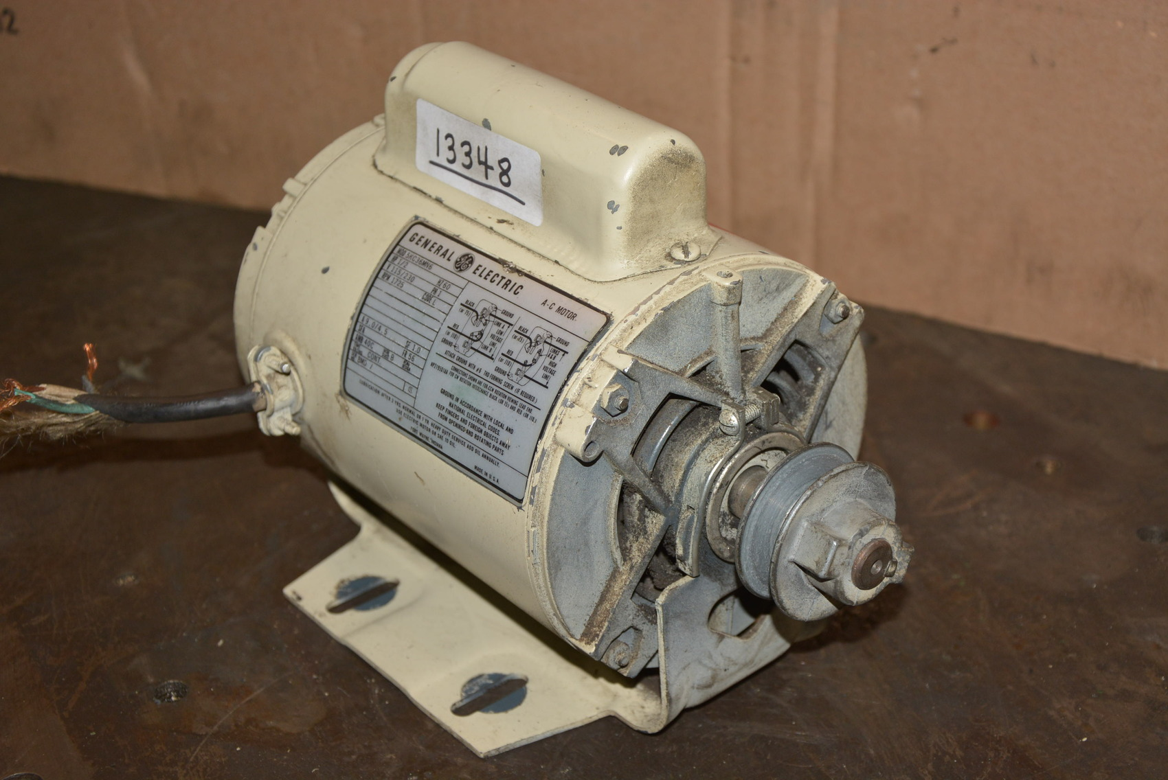 13348 of general electric 5kc36mn6 1 2 hp 115 for 1hp single phase motor