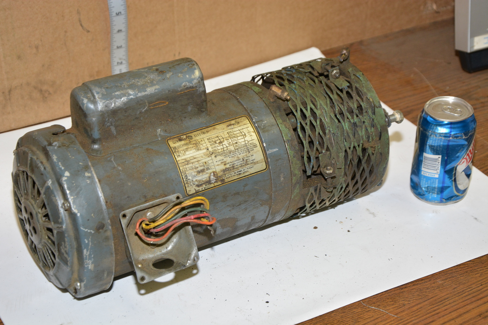 General electric 5kc47ug695 single phase motor 1 hp 1725 for 2 hp electric motor single phase