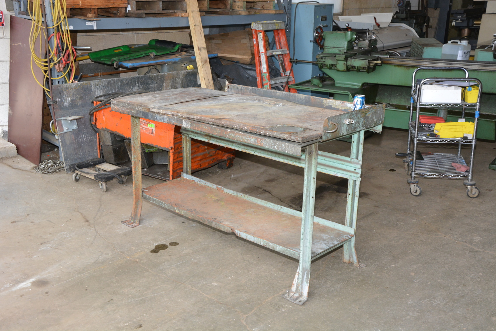Heavy Duty Industrial Work Bench Workbench Table 60x29x36 Equipto Lyon Inv 17716 Ebay