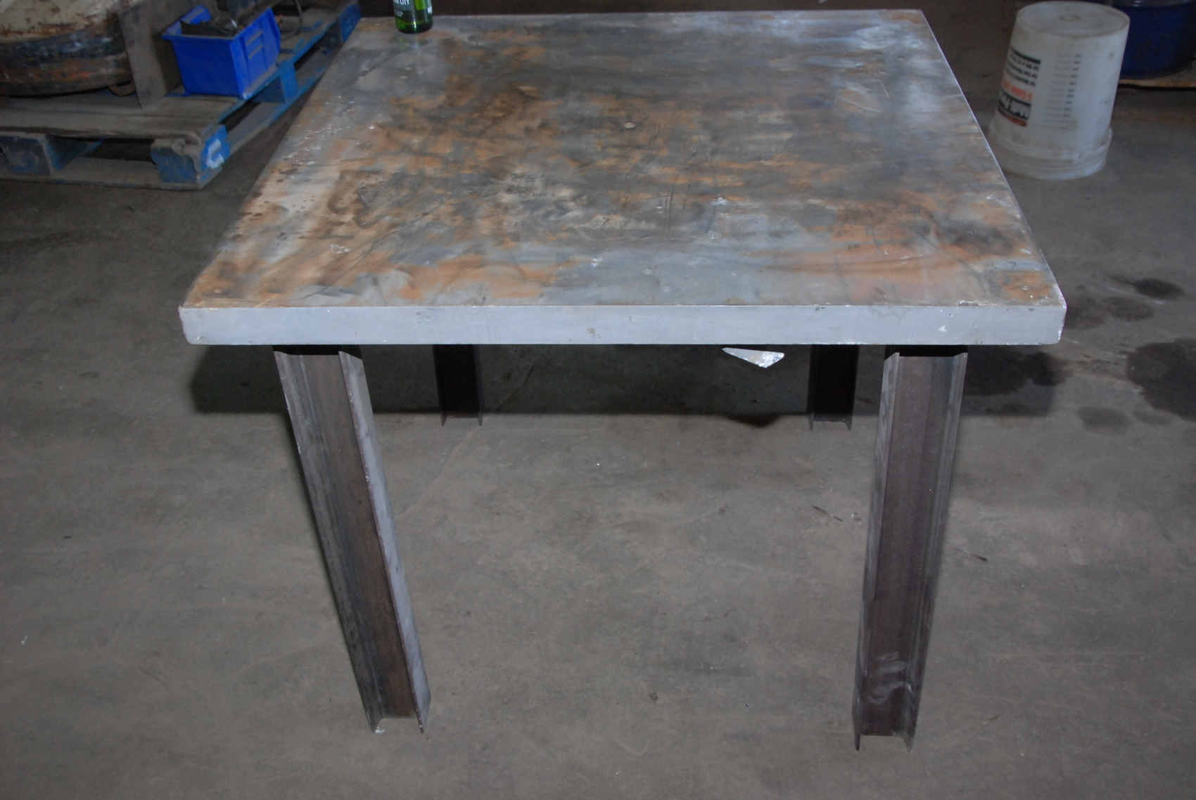 "Heavy duty welding blacksmith table 36x36x30"" 1 3 4""thickness INV"