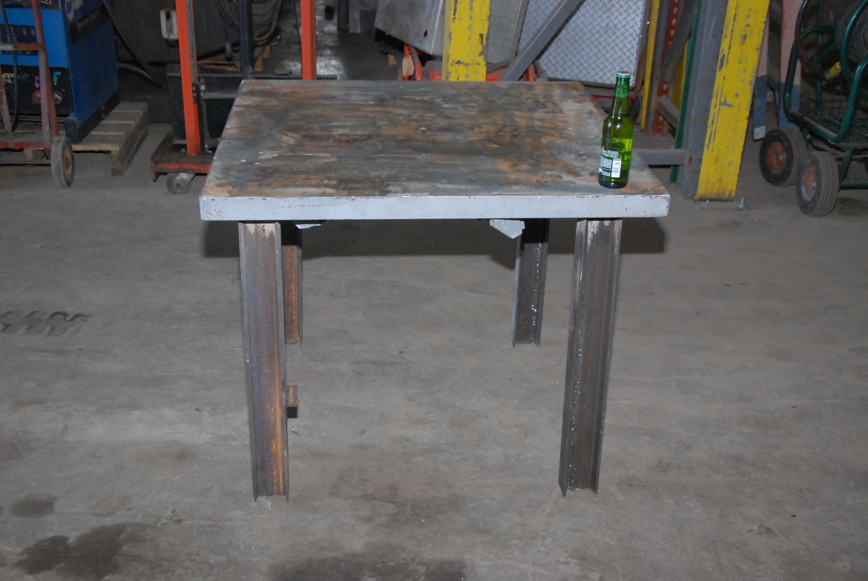 "Heavy duty welding blacksmith table 36x36x30"" 1 3 4""thickness INV"