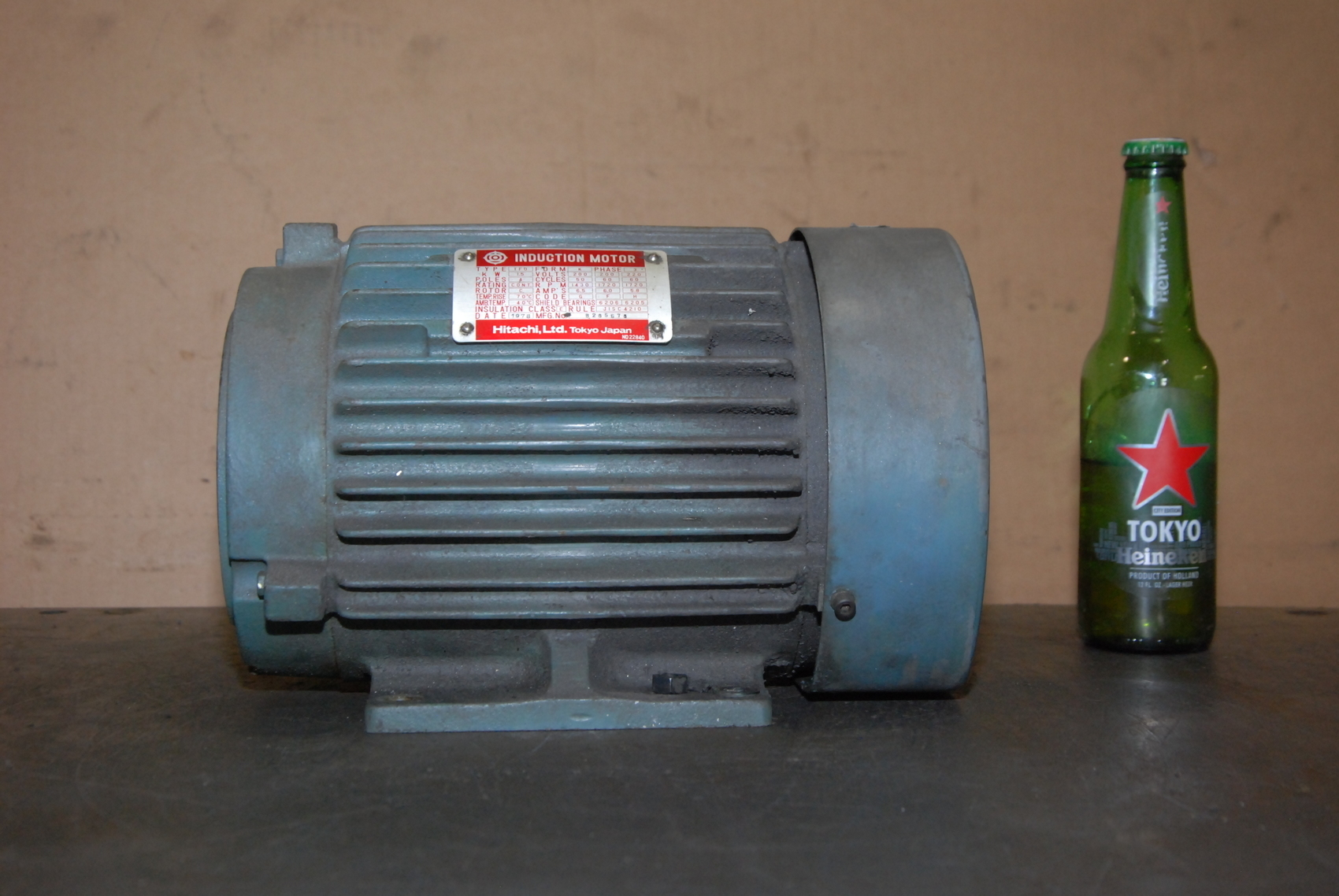 Hitachi 1 5kw electric motor 3 phase 1430 1720 rpm hollow 1 kw electric motor