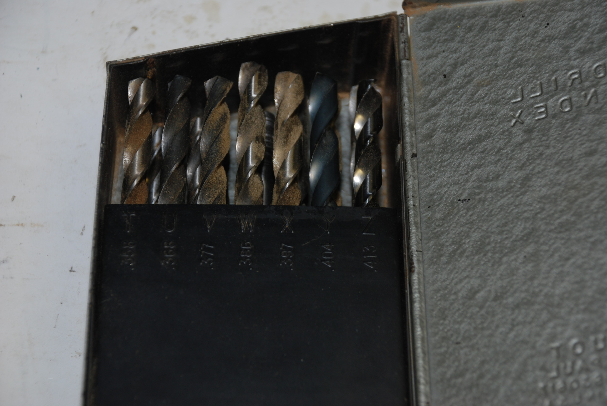 huot drill index with letter drill bit set incomplete inv With letter drill bits for sale