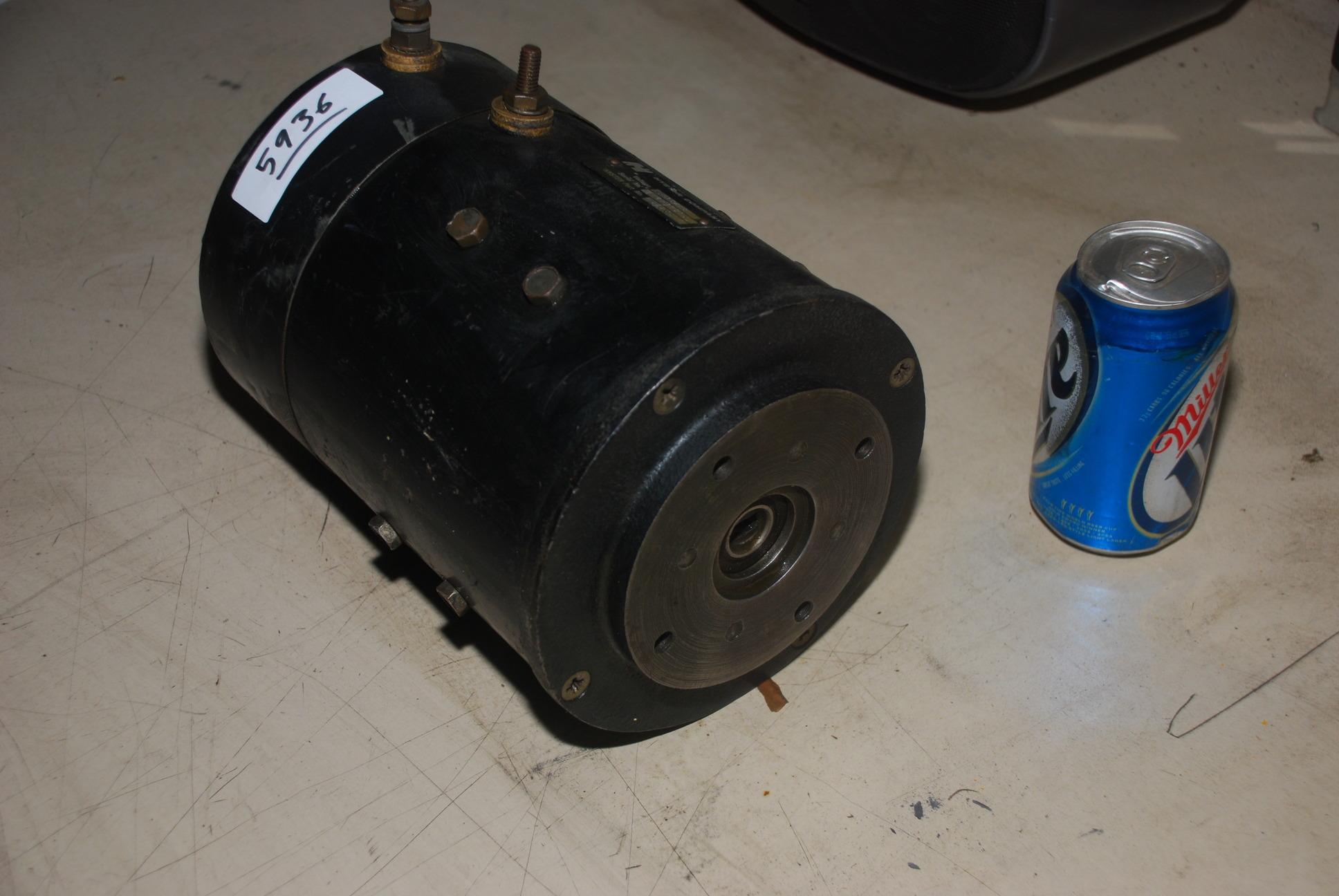 Hyster forkilft 36 48v electric dc motor 4 hydraulic pump for Hydraulic pump with motor