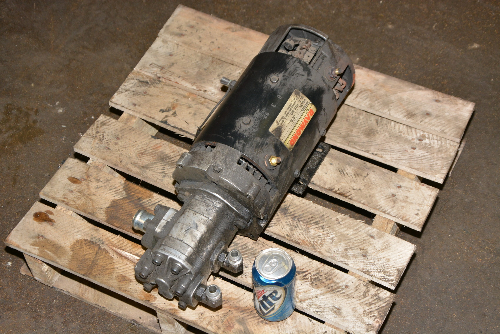 John s barnes 2107646 l hydraulic pump with raymond 36vdc for How to size a hydraulic pump and motor
