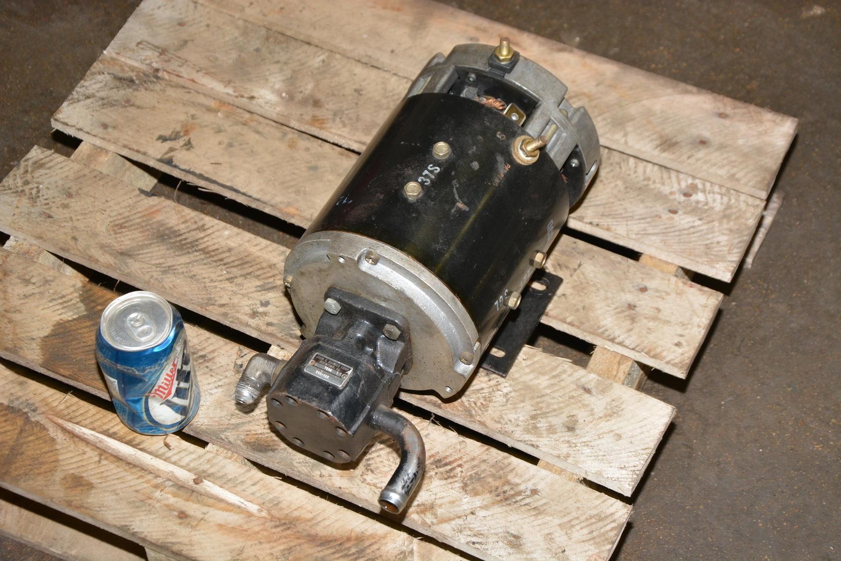 John s barnes hydraulic pump with raymond 36vdc dc for Hydraulic pump with motor