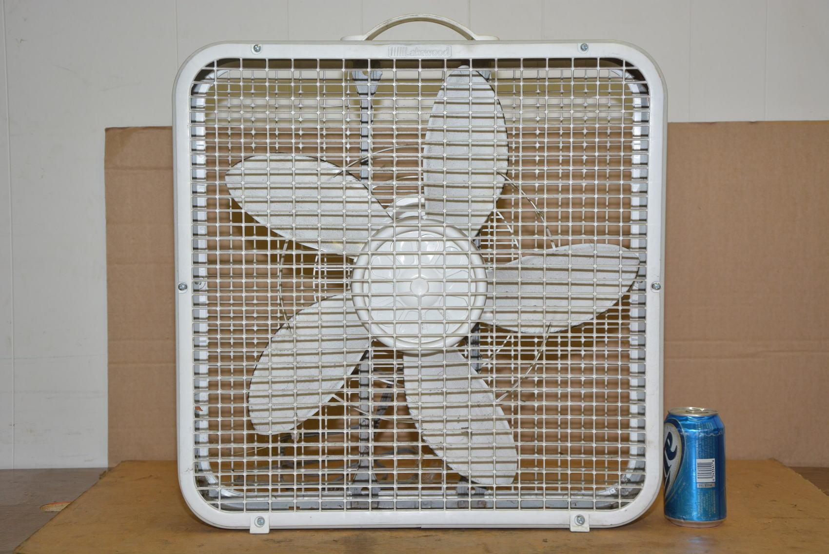 Lakewood Box Fan : Lakewood box fan model speed inv ebay