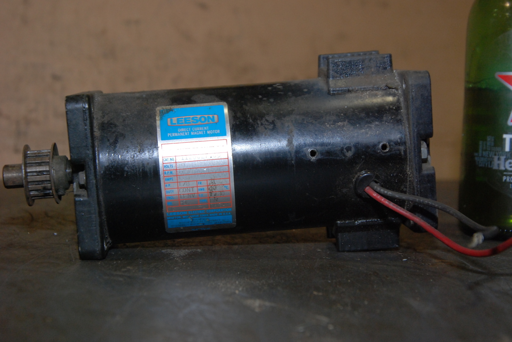 Leeson 1 8 Hp Dc Electric Motor 1750rpm Mod Cm31d18nz10c