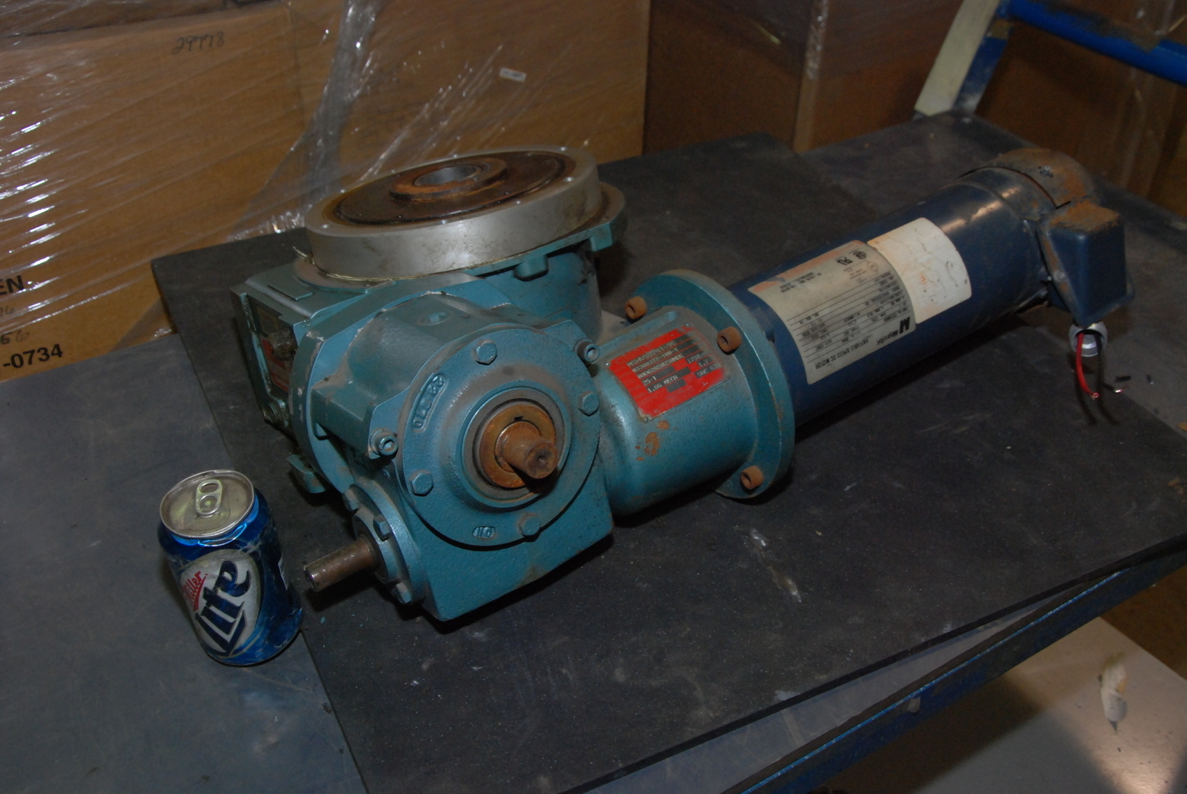 Magnetek Dc Gearmotor With Camco Rotary Indexing Table Inv