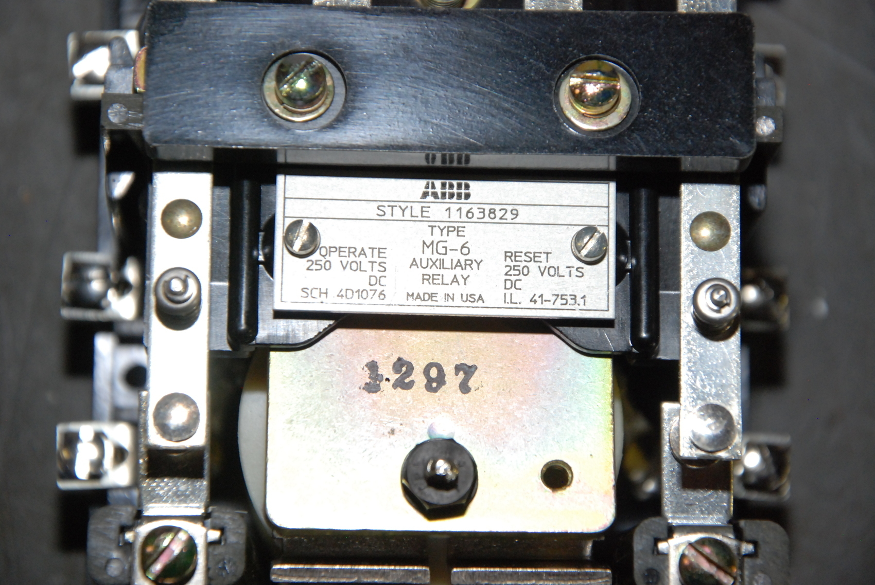 New Abb Mg 6 Auxiliary Relay Inv22779 Ebay Electromagnetic Inv 22779