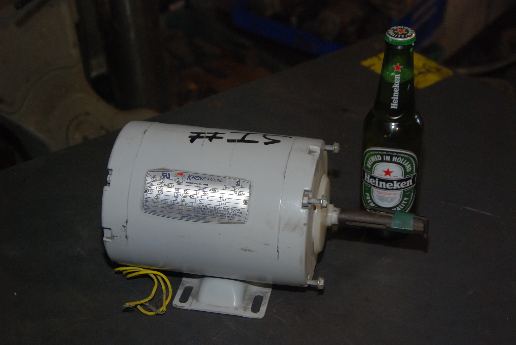 New krenz vent 1 3 hp electric motor a4t11nb16a 3ph for 3 hp electric motor