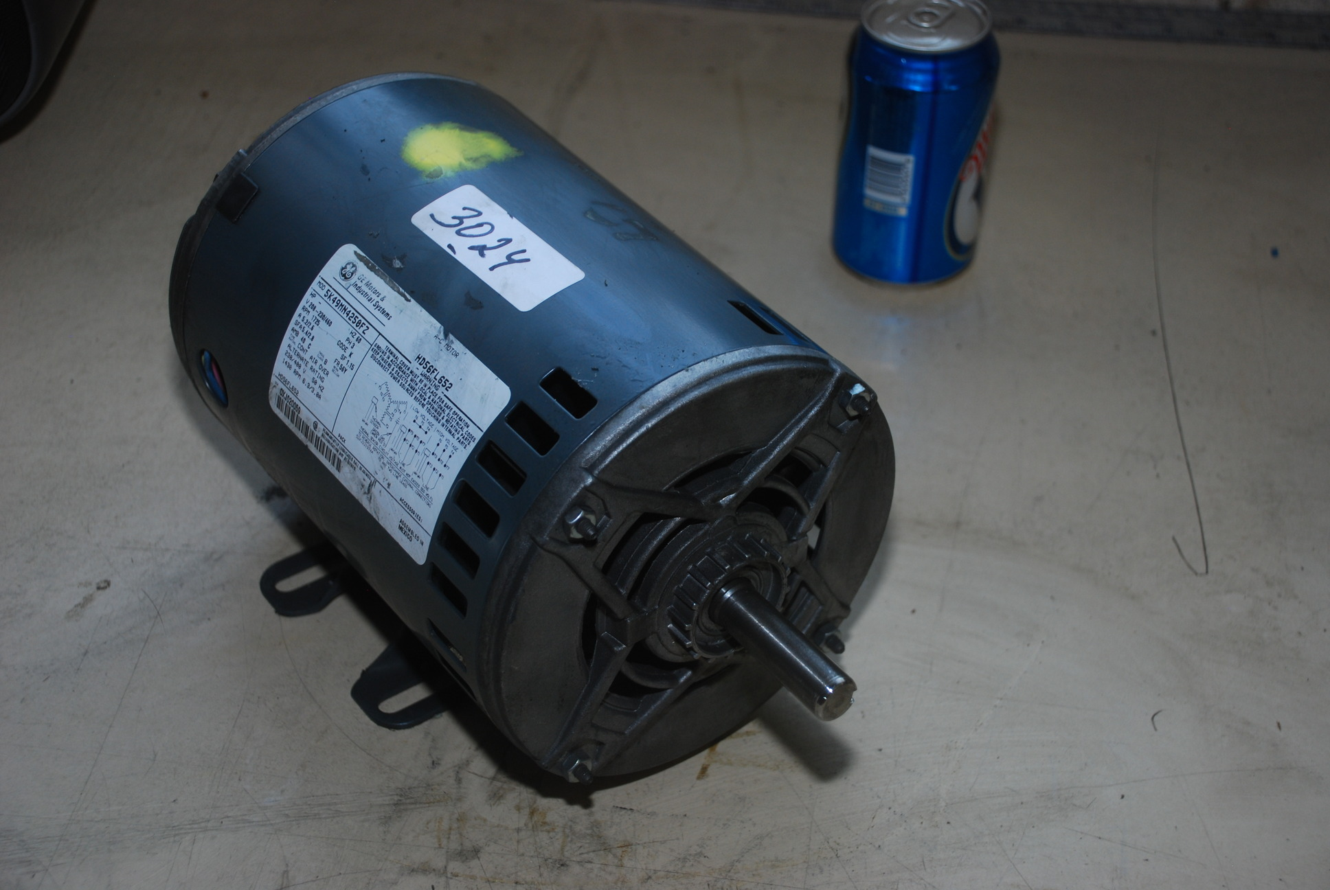 New ge 1 5 2hp hvac fan blower motor model 5k49mn4250fz for Ge furnace blower motor