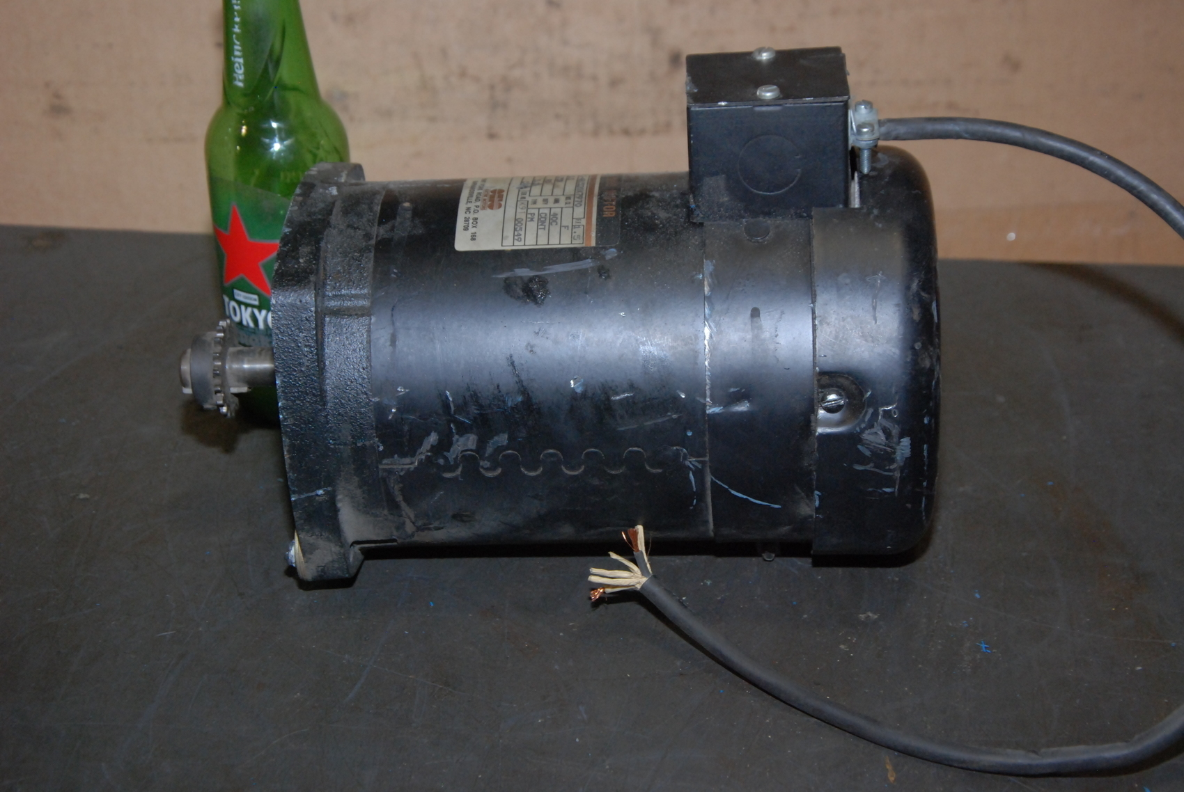 Ohio 1 2hp dc electric motor c 481520x7970 inv 23943 for 2 hp dc electric motor