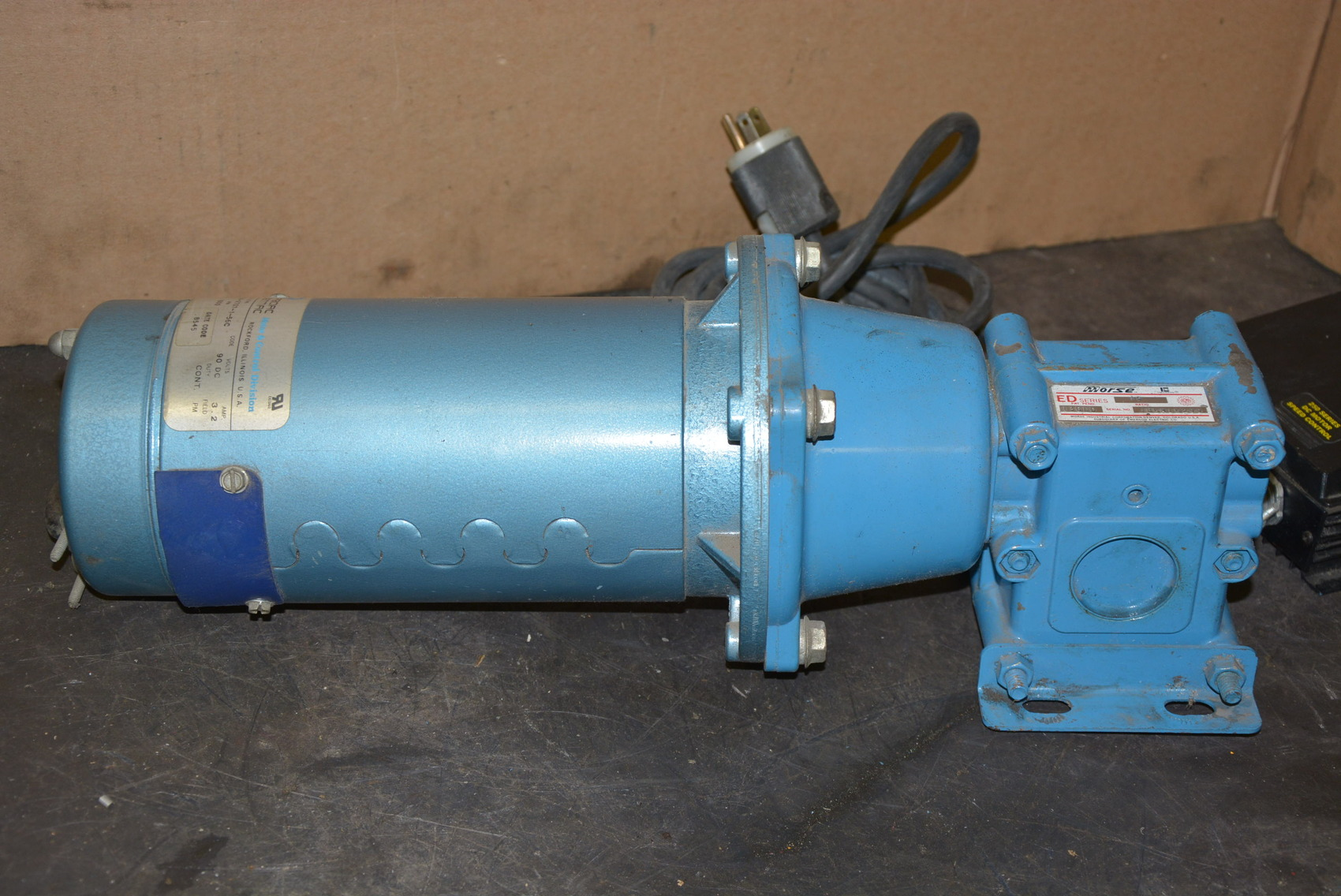 Pacific Scientific Sr3632 1 3 Hp 1 Phase Dc Gear Motor