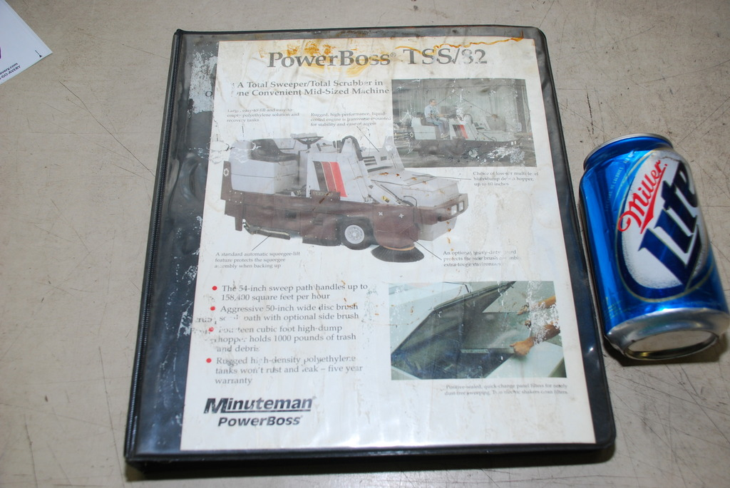 powerboss sweeper scrubber operation and maintenance manual inv 4890 ebay