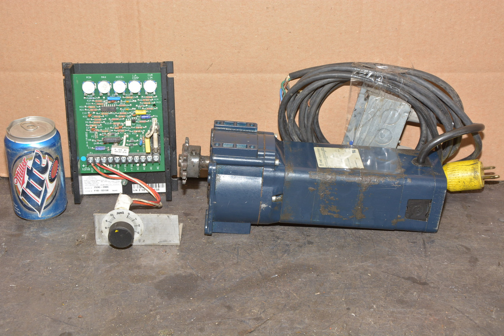 Rae Variable Speed Dc Gear Motor W Dart Drive Single Phase