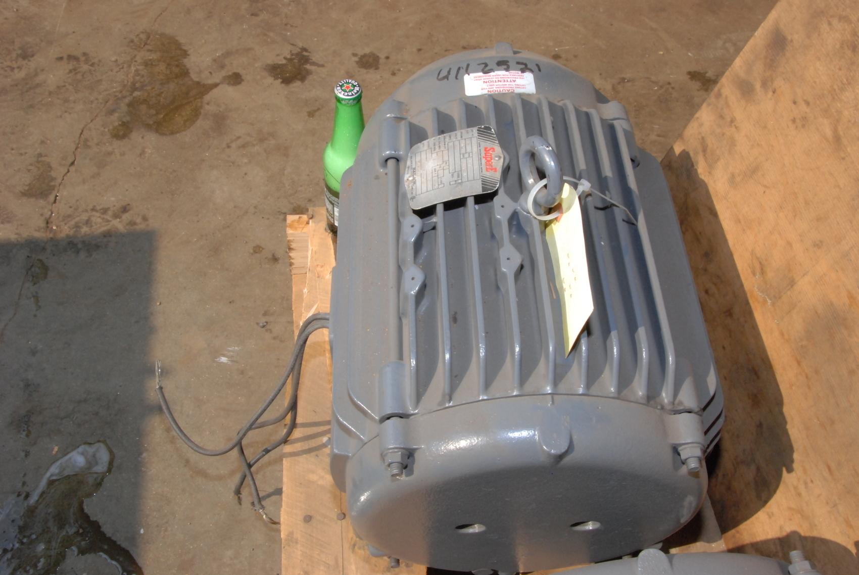Rebuilt super e 10 hp 3ph electric motor t 26059 1170 rpm for 10 hp ac motor