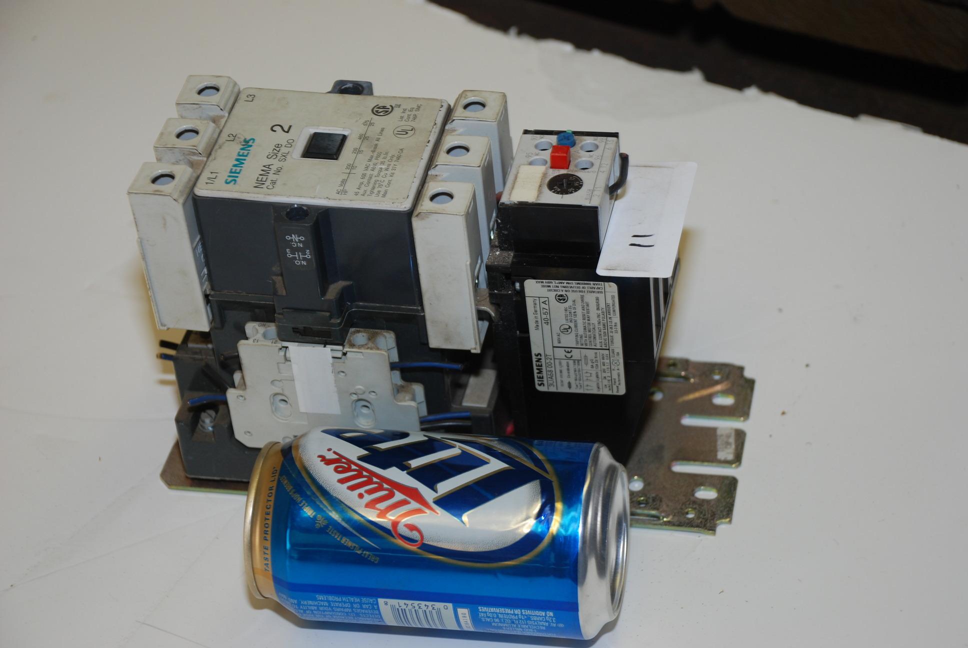 Siemens sxl do size 2 electric motor starter 25 hp full for Siemens magnetic motor starter