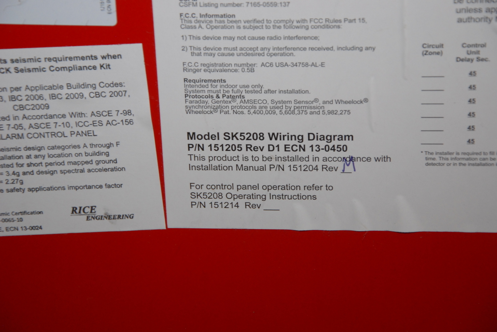 Sk Duct Wiring Diagram Free Download Icc Silent Knight Honeywell 5208 Fire Alarm Control Communicator Din Rail At