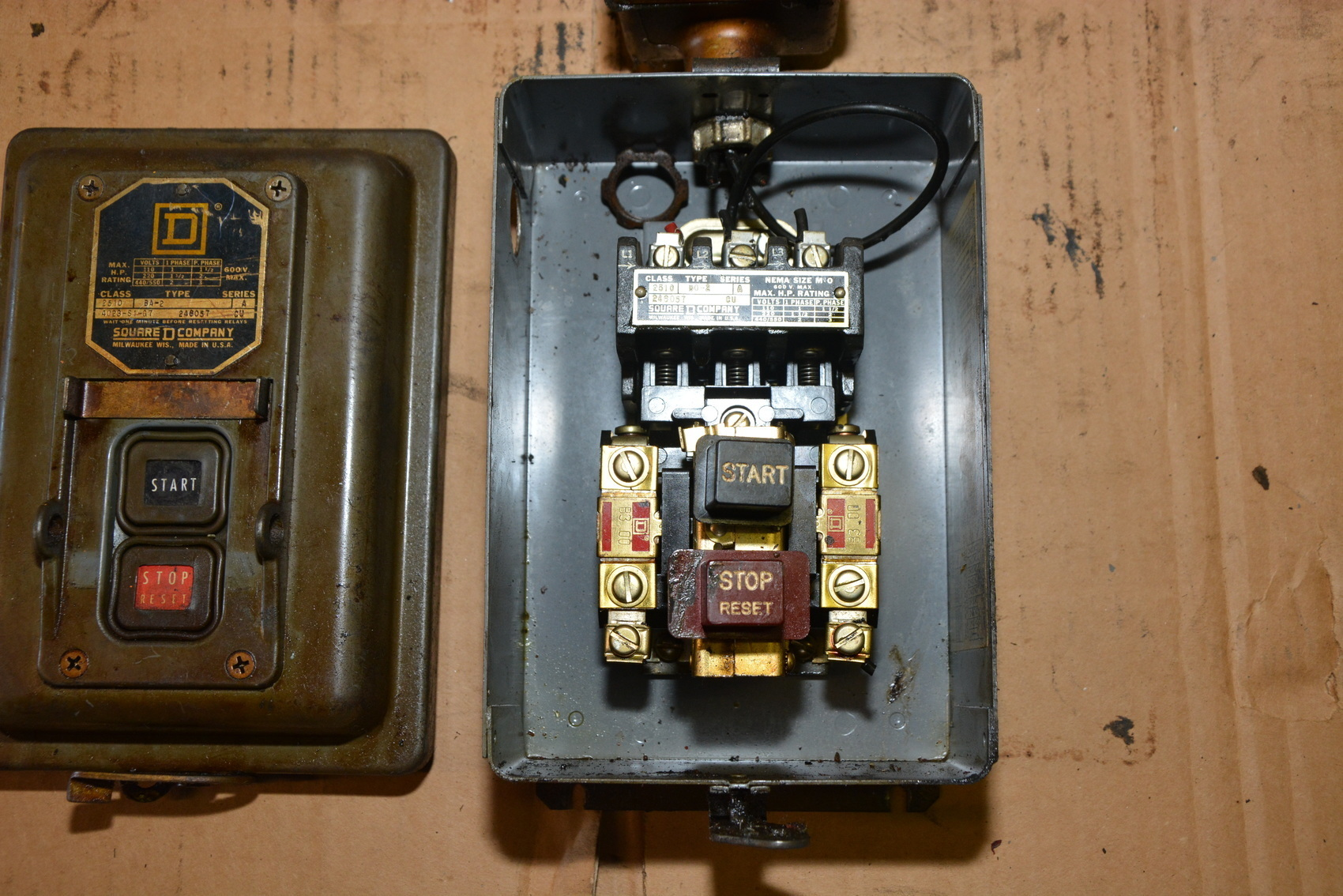 Square D 2510 Manual Motor Starter With Crouse Hinds Ds