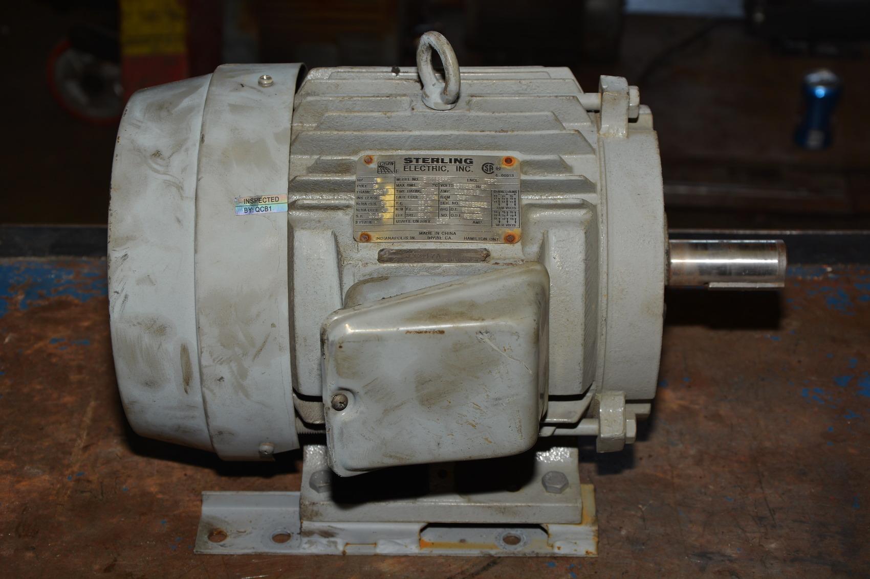 Sterling Electric 5 Hp 3 60 230 460v 3 490 Rpm Ac Motor